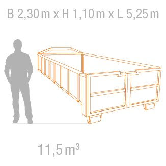 11,5 m³ Abrollcontainer