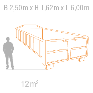 Abrollcontainer 12m3