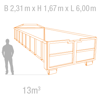 Abrollcontainer 13m3