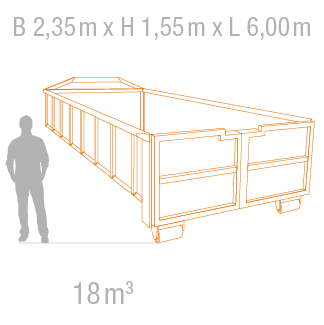 18 m³ Abrollcontainer