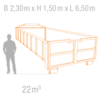 22 m³ Abrollcontainer