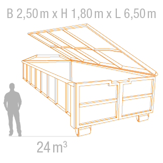 24 m³ Abrollcontainer