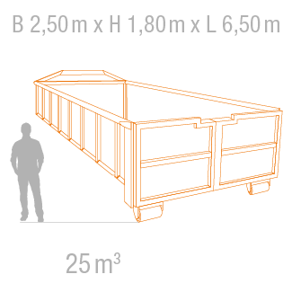 25 m³ Abrollcontainer