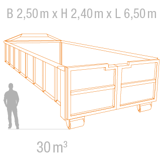 30 m³ Abrollcontainer