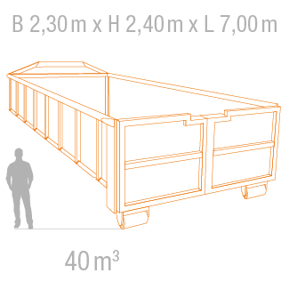 40 m³ Abrollcontainer