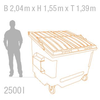 Müllcontainer 2500 Liter