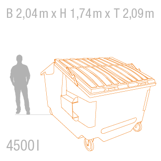 Müllcontainer 4500 Liter